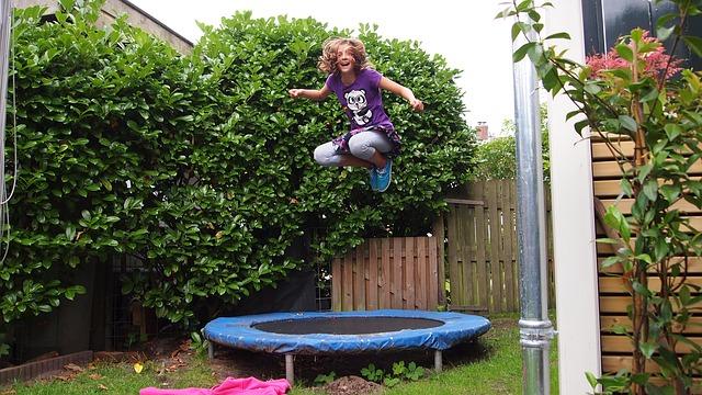 sport na zahradě